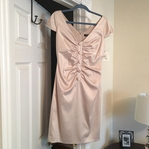 NWT Ellen Tracy Fitted Cap Sleeve Cocktail Dress